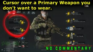 Cursor Over Primary Weapon You Don't Want