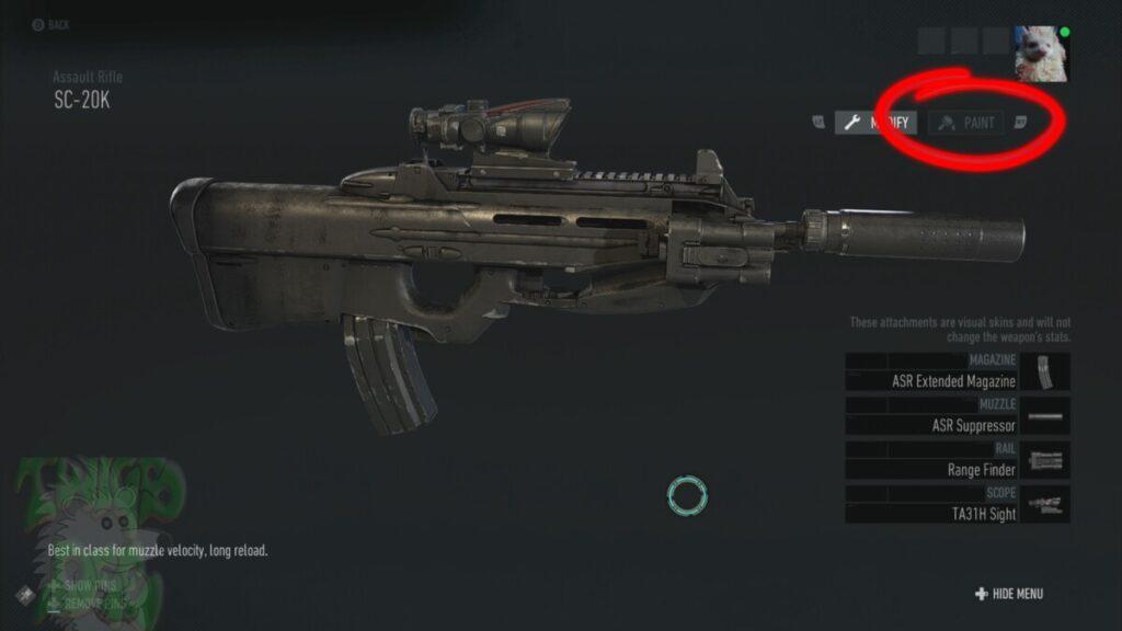 You can paint the AI  teammates guns too.